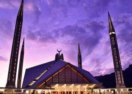 The King's Faisal Masjid mosque in Islamabad, Pakistan