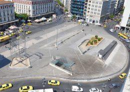 The Omonia Square in Athens