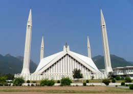 The King's Faisal Masjid mosque in Islamabad, Pakistan